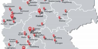 Dortmund Germania Cartina.Germania Mappa Europa Mappa Della Germania E Dell Europa Europa Occidentale Europa