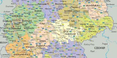 Cartina dell'Austria