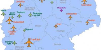 I principali aeroporti in Germania mappa